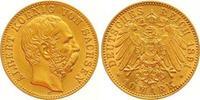 10 Mark Gold 1891  E Sachsen Albert 1873-1902. Winziger Kratzer, vorzüg... 285,00 EUR