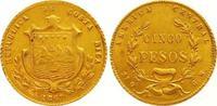 5 Pesos Gold 1867  GW Costa Rica Republik seit 1848. Fast vorzüglich  1650,00 EUR