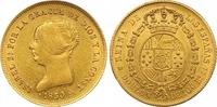 100 Reales Gold 1850  CL Spanien Isabel II. 1833-1868. Vorzüglich +  725,00 EUR  +  7,00 EUR shipping