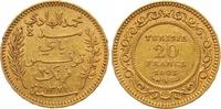 20 Francs Gold 1903 Tunesien Französisches Protektorat. Sehr schön +  245,00 EUR  +  7,00 EUR shipping