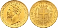 20 Lire Gold 1859  P Italien-Sardinien Vittorio Emanuele II. 1849-1878.... 475,00 EUR  zzgl. 7,00 EUR Versand