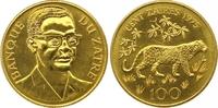 100 Zaire Gold 1975 Zaire-Belgisch-Kongo Republik Zaire 1971-1997. Fast... 1425,00 EUR free shipping