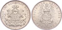 5 Mark 1876  J Hamburg  Vorzüglich - Stempelglanz  1875,00 EUR free shipping
