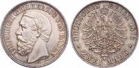 2 Mark 1876  G Baden Friedrich I. 1856-1907. Prachtexemplar. Schöne Pat... 3200,00 EUR free shipping