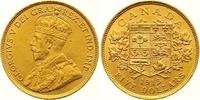 5 Dollars Gold 1913 Kanada George V. 1910-1936. Winziger Kratzer, vorzü... 525,00 EUR
