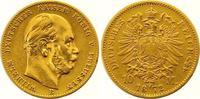 10 Mark Gold 1872  B Preußen Wilhelm I. 1861-1888. Prägeschwäche, sehr ... 155,00 EUR