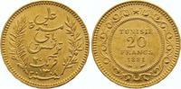 20 Francs Gold 1891 Tunesien Französisches Protektorat. Fast vorzüglich  245,00 EUR