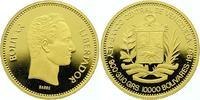 10000 Bolivares Gold 1987 Venezuela Republik. Seit 1823. Polierte Platte  1750,00 EUR