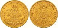 20 Mark Gold 1913  J Hamburg  Winziger Randfehler, vorzüglich  325,00 EUR  +  7,00 EUR shipping