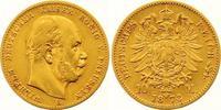 10 Mark Gold 1873  B Preußen Wilhelm I. 1861-1888. Sehr schön  185,00 EUR
