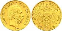 20 Mark Gold 1894  E Sachsen Albert 1873-1902. Kl. Randfehler, sehr sch... 355,00 EUR