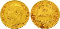 20 Francs Gold AN 13 A Frankreich Napoleon I. 1804-1814, 1815. Sehr sch... 275,00 EUR