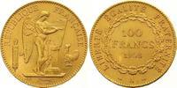 100 Francs Gold 1908  A Frankreich Dritte Republik 1870-1940. Vorzüglic... 1325,00 EUR