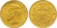 20 Lei Gold 1883 Rumänien Carol I. 1866-1914. Fast Stempelglanz  550,00 EUR