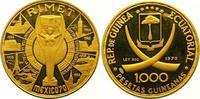 1000 Pesetas Gold 1970 Äquatorial Guinea Republik seit 1968. Polierte P... 550,00 EUR