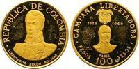 100 Pesos Gold 1969  NI Kolumbien Republik seit 1886. Kleine Kratzer, k... 170,00 EUR  +  7,00 EUR shipping