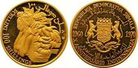 100 Shillings Gold 1970 Somalia Republik. Ab 1950. Polierte Platte  550,00 EUR