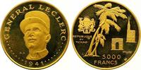 5000 Francs Gold  Tschad Republik seit 1962. Winzige Kratzer, Polierte ... 675,00 EUR