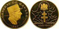 10000 Francs Gold  Tschad Republik seit 1962. Winzige Kratzer, Polierte... 1375,00 EUR