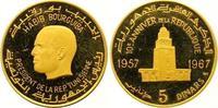 5 Dinars Gold 1967 Tunesien Republik seit 1957. Polierte Platte  375,00 EUR