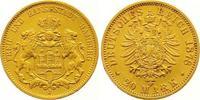 20 Mark Gold 1878  J Hamburg  Vorzüglich  375,00 EUR