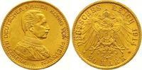 20 Mark Gold 1914  A Preußen Wilhelm II. 1888-1918. Vorzüglich  300,00 EUR