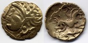 EL Hemistater 60-50 BC Gaul, Northwest / K...
