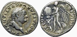 AR Denarius / Denar 69/79 AD Roman Empire ...