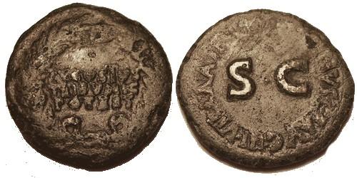 Roman Empire / Römische Kaiserzeit Augustus 27BC-14AD Dupondius 16 BC Fine-Very Fine / Schön-sehr schön