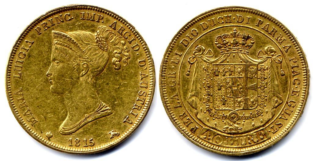 Maria Luigia Parma 40 Lire 1815