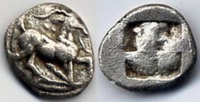 Trihemiobol / obol 480-460 BC THRACO-MACEDONIAN REGION Uncertein / Aiggai / Aegeae good Very Fine