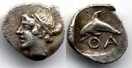 Hemiobol 412-404 BC Thrace / Thrakien Thasos good Very Fine  450,00 EUR  zzgl. 12,00 EUR Versand