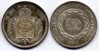 500 Reis 1863 Brazil / Brasilien Pedro II feiner Stgl  100,00 EUR