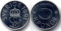 5 kronor 1991 1991 U Sweden / Schweden Carl XVI Gustaf - Mint error / F... 45,00 EUR