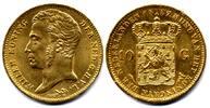 10 Gulden 1837 Netherlands / Niederlande  fast Stgl  1400,00 EUR  zzgl. 15,00 EUR Versand