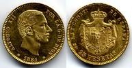 25 Pesetas 1881 Spain / Spanien Alfonso XII prooflike FDC / Prachtexemp... 550,00 EUR  zzgl. 12,00 EUR Versand