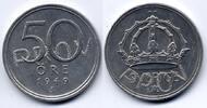 50 öre 1949 Schweden / Sweden Gustav V - Pattern / Probe EF / vzgl  60,00 EUR39,00 EUR  zzgl. 6,00 EUR Versand