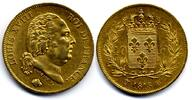 40 Francs 1818 W France / Frankreich Louis XVIII near Extremely Fine / ... 700,00 EUR  zzgl. 12,00 EUR Versand