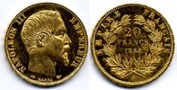 20 Francs 1858 A France / Frankreich Napoleon III DPL-64 / vzgl-Stgl+  500,00 EUR  zzgl. 12,00 EUR Versand