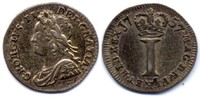 AR 1 Penny 1757 Great Britain / Grossbritanien George II AU58 / vzgl  60,00 EUR  zzgl. 10,00 EUR Versand