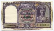 10 Rupees / 10 Rupien 1943 India / indien Reserve Bank of India fast Bfr  90,00 EUR