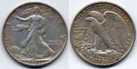 50 cents / half dollar 1921 S USA Walking ...