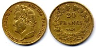 20 Francs 1837 W France / Frankreich Louis Philippe Sehr schön  500,00 EUR  zzgl. 12,00 EUR Versand