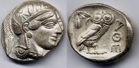 Tetradrachm 454-404 BC Attica / Attika Athens / Stadt Athen - fine styl... 2600,00 EUR