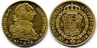 AV 4 Escudos 1786 M-DV Spanien / Spain Carlos III / Charles III fast St... 3200,00 EUR  zzgl. 15,00 EUR Versand