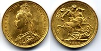 Sovereign 1889 S Australia / Australien Victoria - Jubilee bust vzgl-Stgl  450,00 EUR