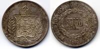 1000 Reis 1865 Brazil / Brasilien Pedro II fast Stgl  100,00 EUR