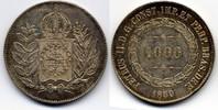 1000 Reis 1850 Brazil / Brasilien Pedro II vzgl  40,00 EUR