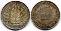1000 Reis 1852 Brazil / Brasilien Pedro II vzgl  40,00 EUR