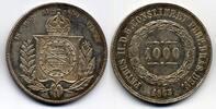 1000 Reis 1863 Brazil / Brasilien Pedro II vzgl  40,00 EUR